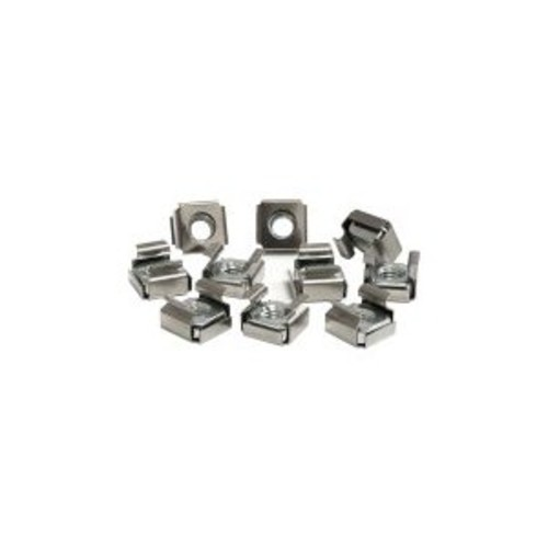 StarTech.com 50 Pkg M6 Cage Nuts for Server Rack Cabinet [Silver Cage Nuts, 50x M6]