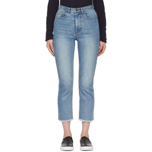 indigo Standard A Frayed Jeans