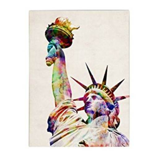 Statue of Liberty by Michael Tompsett, 14 by 19-Inch Canvas Wall Art [14 by 19-Inch]