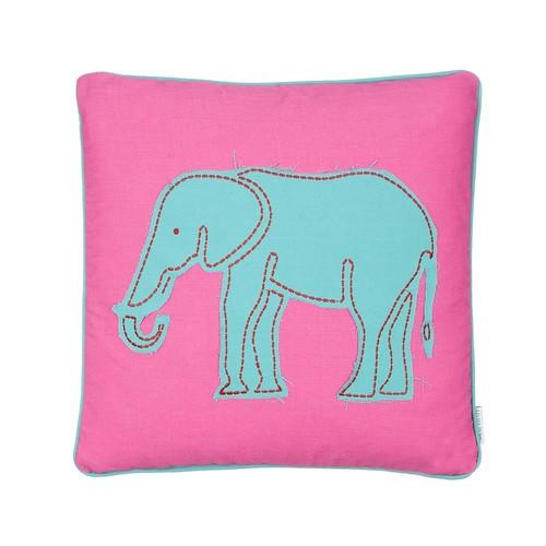 Swazi Elephant Throw Pillow