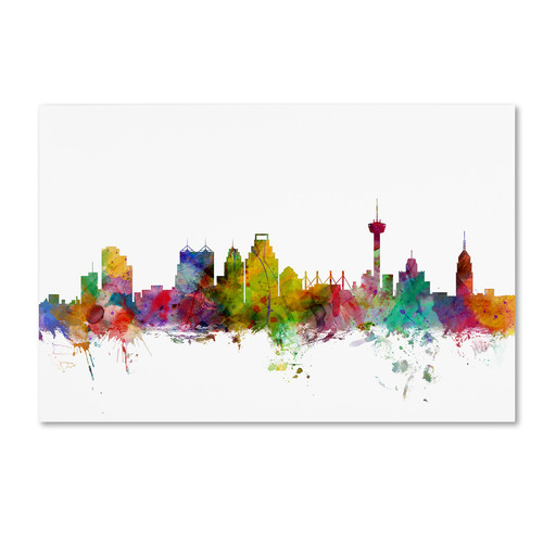 Trademark Global Michael Tompsett 'San Antonio Texas Skyline' Canvas Art