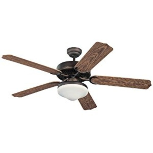 Monte Carlo 5WF52RBD-L, Weatherford Deluxe Outdoor Ceiling Fan with Light, 52'', Roman Bronze [Roman Bronze]