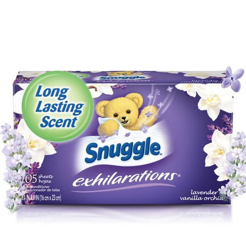 Snuggle Exhilarations Fabric Softener Dryer Sheets, Lavender & Vanilla Orchid, 105 Count [White Lavender & Sandalwood, 105 Count]
