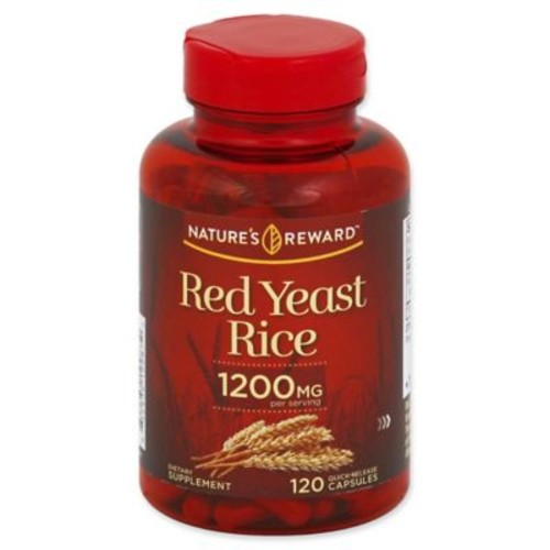 Nature's Reward 120-Count 1200 mg Red Yeast Rice Quick Release Capsules