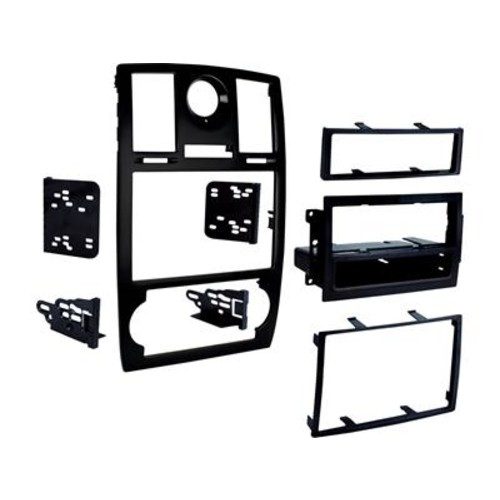 Metra 99-6516B Dash Kit Allows you to install a double-DIN car stereo in a 2005-07 Chrysler 300 without the factory navigation