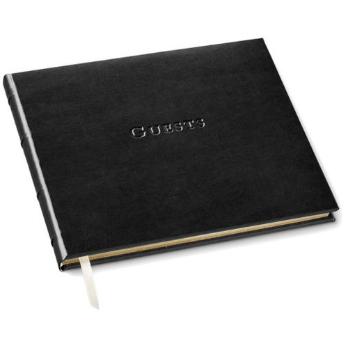 Acadia Black Leather Guest Book 7