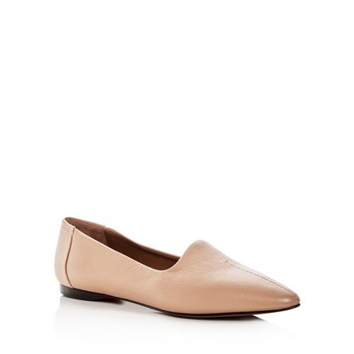 GIORGIO ARMANI Women'S Capra Leather Pointed Toe Flats