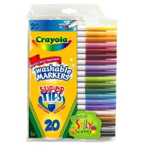 Crayola 20 Count Washable Super Tip With Silly Scents Markers 58-8106
