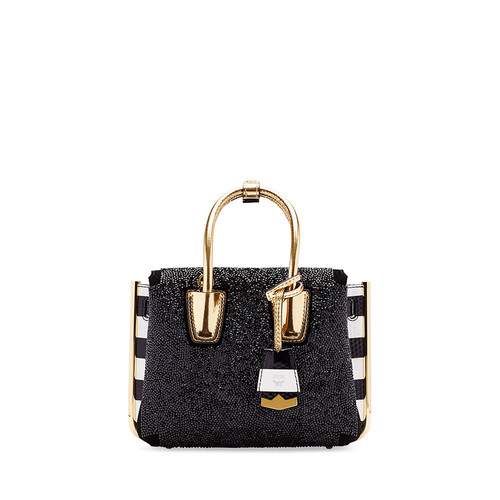 MCM Milla Special Embellished Mini Tote Bag, Black
