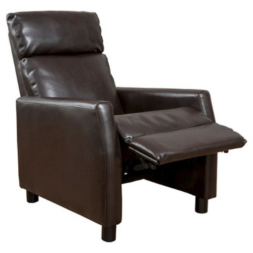 Tabahri Bonded Leather Recliner Club Chair - Brown - Christopher Knight Home
