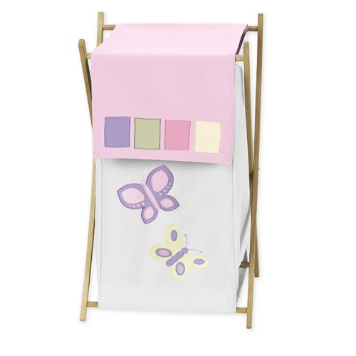 Sweet Jojo Designs Butterfly Pink and Purple Collection Laundry Hamper