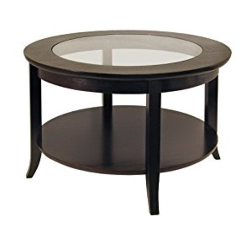 Winsome Wood Round Coffee Table, Espresso [Espresso]