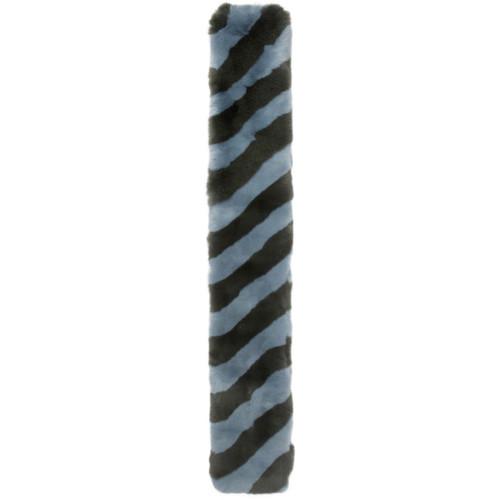 FENDI Blue & Green Fur Scarf