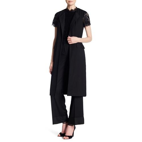 Yarn Dye Stripe Long Vest