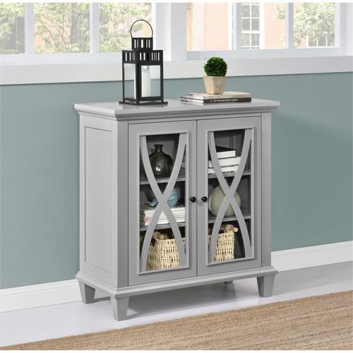 Ameriwood Home Ellington Double Door Accent Cabinet - Gray