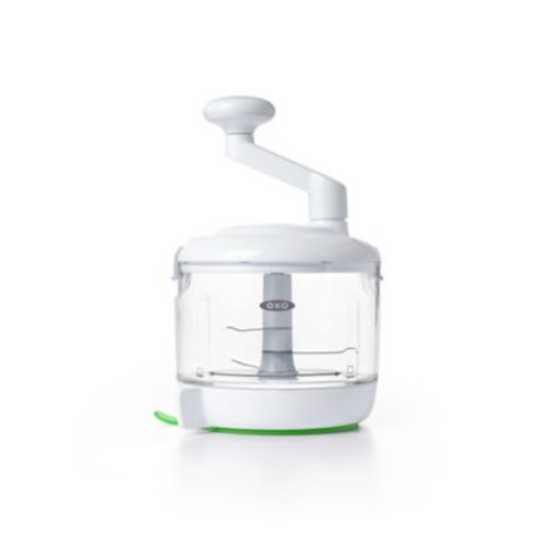 OXO Good Grips One Stop Chop Manual Food Processor in White/Green
