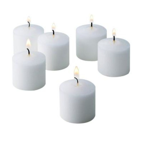 Light In The Dark 10 Hour Fresh Linen Scented Votive Candles (Set of 12)