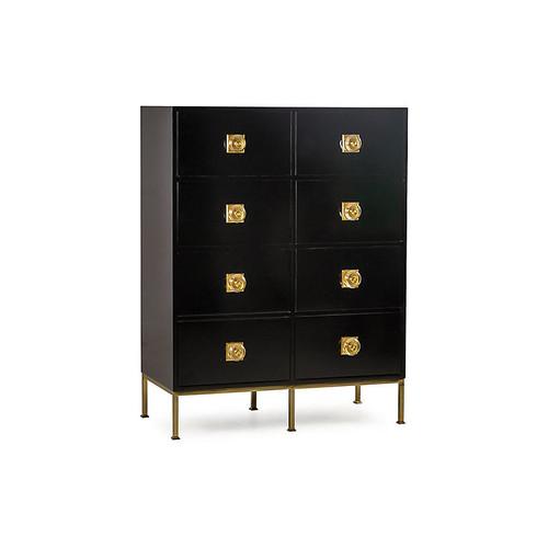 Formal 8-Drawer Dresser, Black