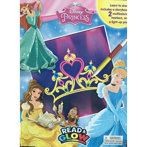 Disney Princess Read & Glow Coloring and Storybook