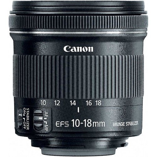 Canon EF-S 10-18mm f/4.5-5.6 IS STM Wide-angle zoom lens for APS-C sensor Canon EOS SLR cameras