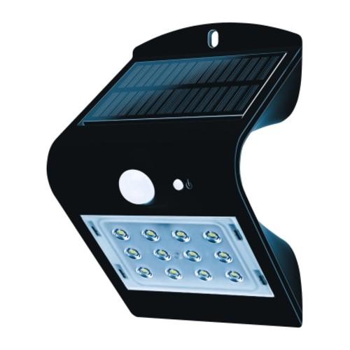 Luceco Guardian Black LED Solar Motion Sensing Wall Light(LEXS22B40-AS)