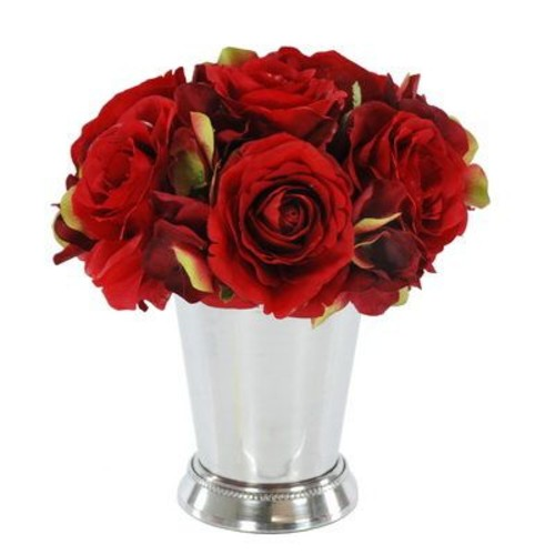 Jane Seymour Botanicals Rose Bouquet Floral Arrangement in Julep Cup