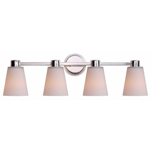 Kenroy Home Scarsdale 4-Light Nickel Bath light Vanity