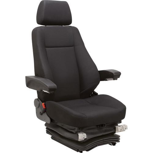 K & M Air Suspension Seat for Excavators  Black,