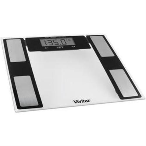 VIVITAR PS V527 C Total Fitness Digital Bathroom Scale (Clear)