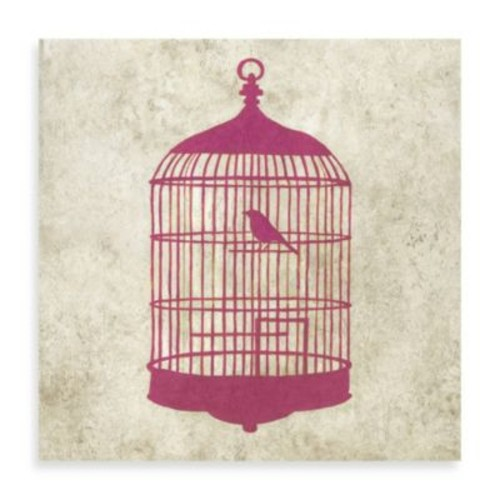 Bird House Gicle on Canvas Wall Art in Pink
