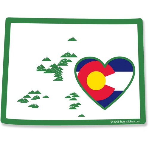 Heart in Colorado Sticker