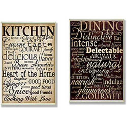 Stupell Today's Menu Eat It Or Go Hungry Graphic Art Wall Plaque