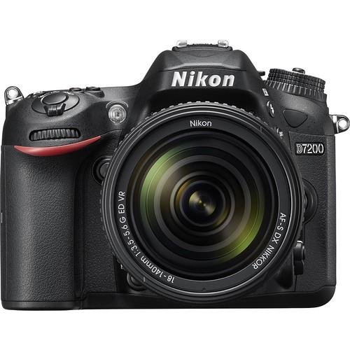 Nikon - D7200 DSLR Camera with 18-140mm Lens - Black