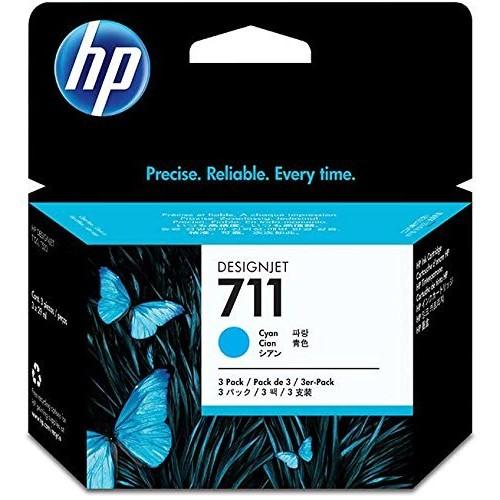 HEWCZ134A - HP 711 3-pack 29-ml Cyan Ink Cartridges