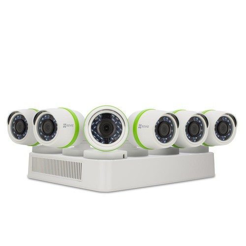 EZVIZ Security System 6 HD 1080p Cameras 8-Channel DVR with 2TB HDD, 100 ft. Night Vision Works with Alexa Using IFTTT
