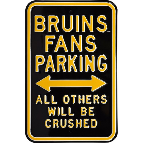 Authentic Street Signs Boston Bruins Parking Sign