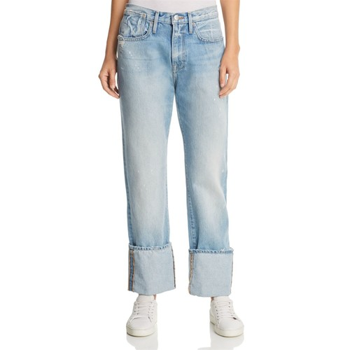 FRAME Le Oversized Cuff Jeans In Berkshire