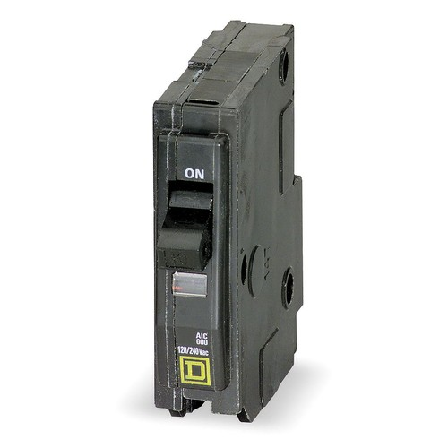 Plug In Circuit Breaker, QO, Number of Poles 1, 10 Amps, 120/240VAC, Standard