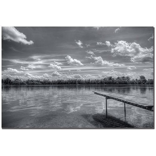Pier 7 by Philippe Sainte-Laudy, 14x19-Inch Canvas Wall Art [14 by 19-Inch]
