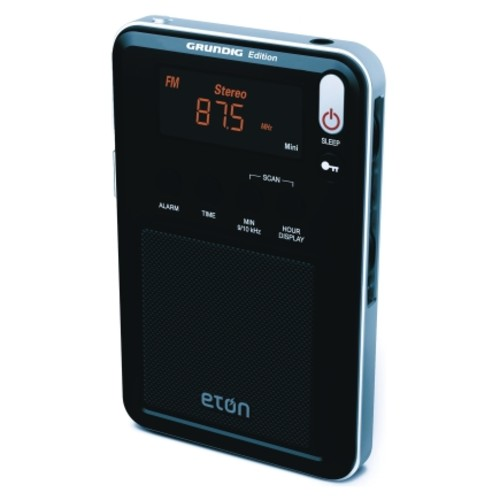 Eton Black Digital AM/FM Clock Radio Battery Alarm Digital(WMINI)