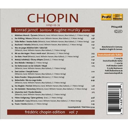 Chopin: Songs [CD]