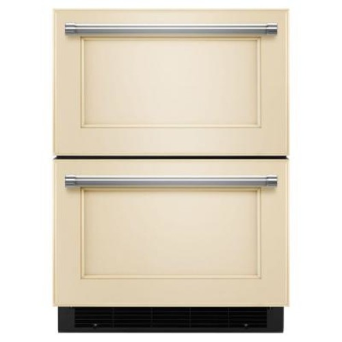 KitchenAid 24 in. W 4.7 cu. ft. Double Drawer Freezerless Refrigerator in Overlay Panel-Ready, Counter Depth