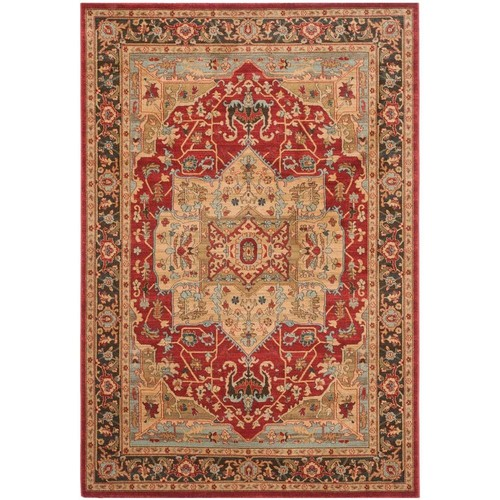 Safavieh Mahal Natural/Navy 6 ft. 7 in. x 9 ft. 2 in. Area Rug