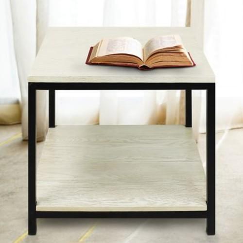 American Trail Studio End Table; White Wash