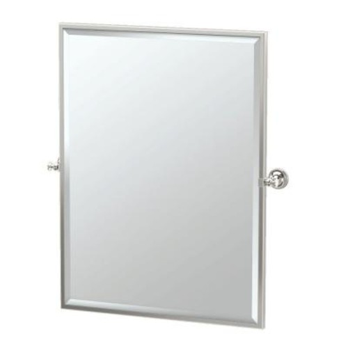 Gatco Tavern 28 in. x 33 in. Framed Single Large Rectangle Mirror in Polished Nickel