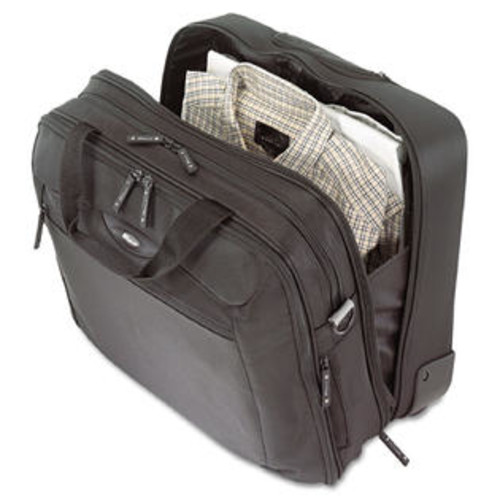 Targus CityGear Rolling Travel Laptop Case Nylon 18 x 10 x 15 Black/Silver
