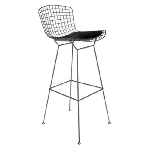 Counter And Bar Stools Aeon Black Stainless Steel