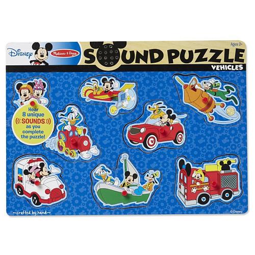 Melissa & Doug Mickey & Friends Wooden Sound Puzzle