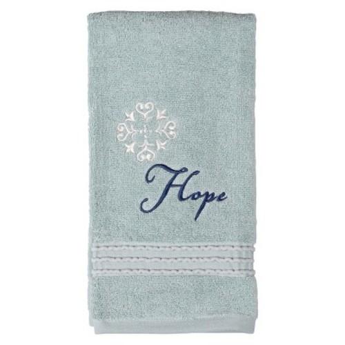 Karma Cotton Embroidered Hand Towels Aqua - Saturday Knight Ltd.