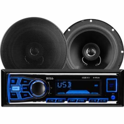 Boss Audio In-Dash Multimedia Receiver & Speaker Package